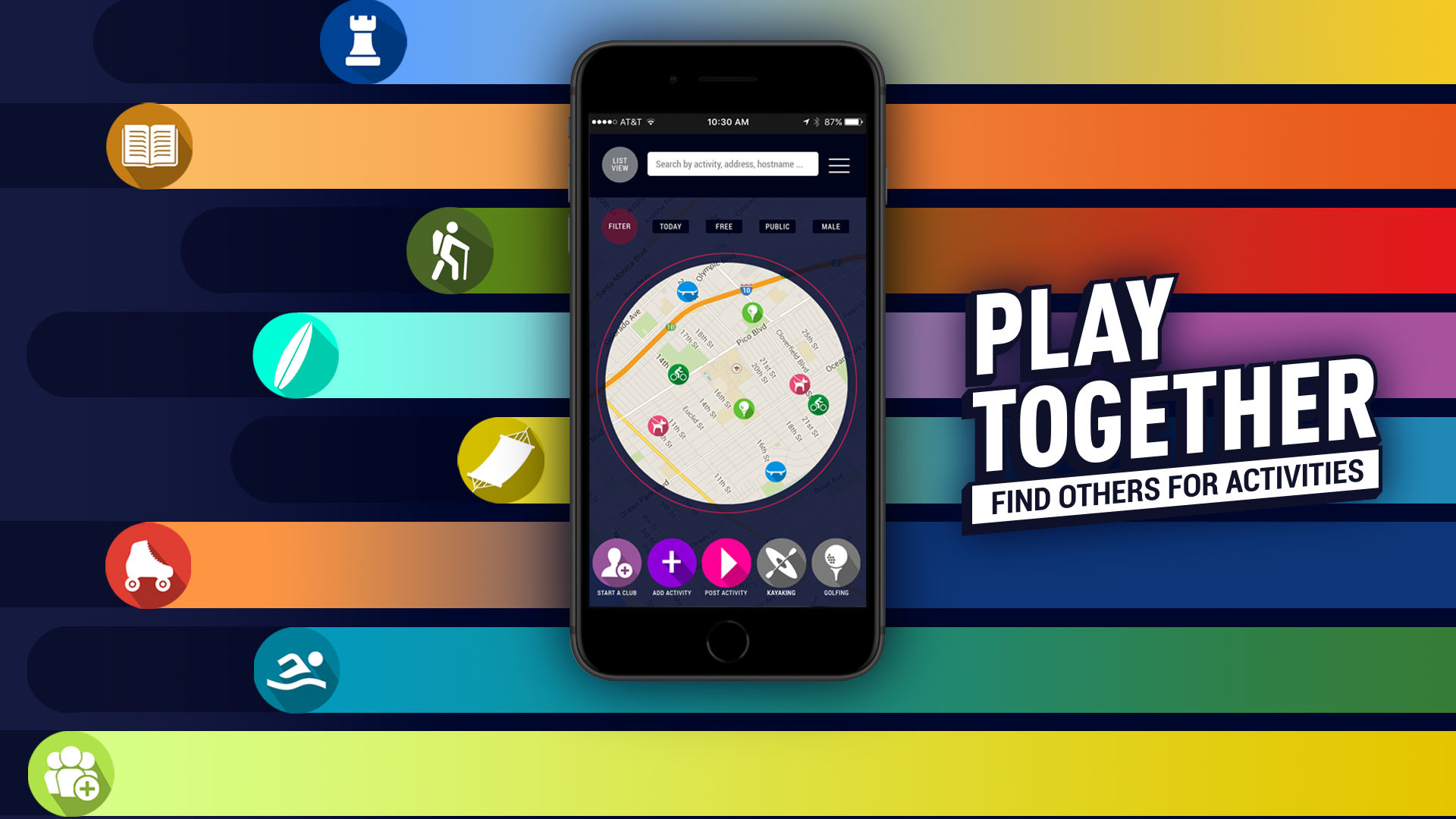 meclub app - play together - find others for activities